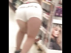 PAWG BBW I Got Two different Times!! (bends over in shorts)