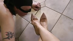 Foot and stilettos worship
