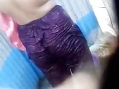 Indian teen girl bath, caught by hidden cam.