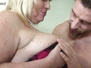 Chubby Grandma banged by her grandson s friend