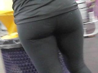 Candid  Ass Hidden Cam Slow Mo Hot Gym Girl Black Tights