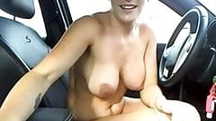 Cute Girl Cums in Car