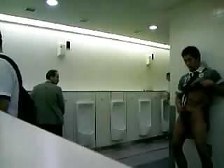 Japanese boy in public toilet