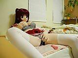 kigurumi girl masturbate