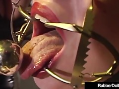 Latex Lover RubberDoll Performs Crazy Bondage On Mina Meow!