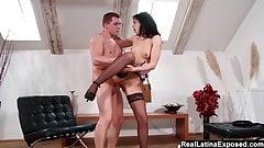 Sexy Ferrera Gomez Teases And Fucks