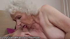 LustyGrandmas Sensual Granny Uses Hairy Box to Ride