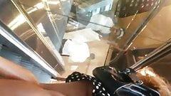 Escalator upskirt no pants