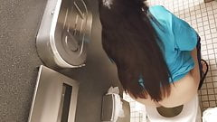 Bbw employee toilet voyeur