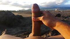Curious Masturbating On The Fresh Air