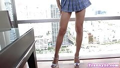 Bigtitted ladyboy goddess pulling cock solo
