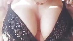 Big boobs girl home