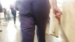 Ass in broad trousers
