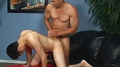 Brunette whore shared by bi dudes