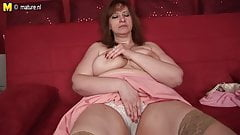 Busty mom-next-door with hungry vagina