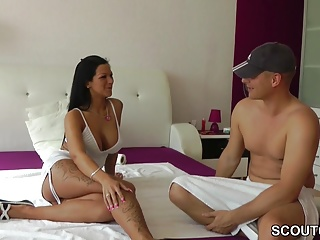 German Teen with Big Tits Fuck with Stranger User for Porn