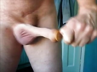 Hot guy stretching his foreskin on cam