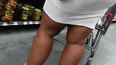 White skirt VPL