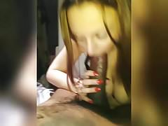 Busty brunette give an amazing blowjob part 2