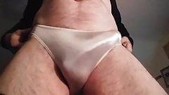 Hard in my white panty