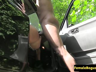 Preview 5 of Busty british cabbie doggystyle by black guy