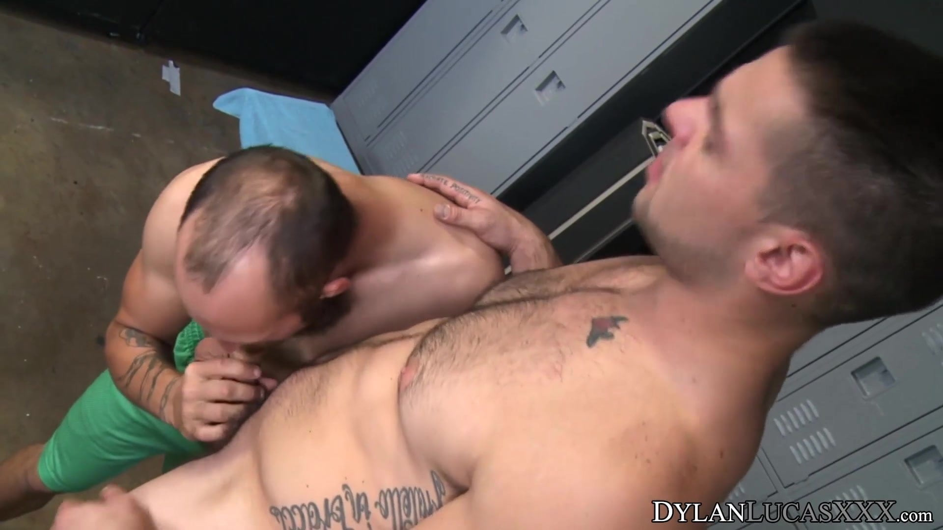 Wild anal doggystyle within the locker room with good-looking gays