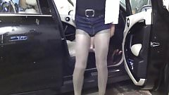 CD PANTYHOSE SLUT CAR TEASING