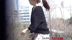 Mesmerizing Asian babes flashing on hidden camera
