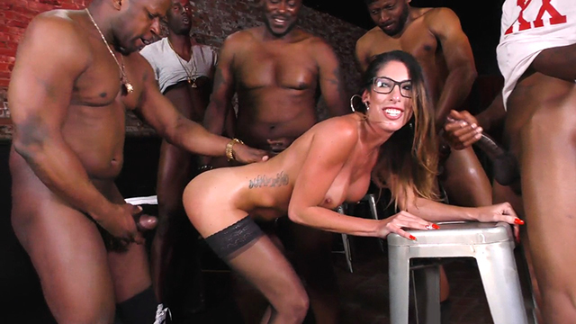 Black Group Gangbang BBC Slut Dava Foxx