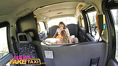 Female Fake taxi Multiple lesbian orgasms for busty MILF