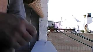Neighbour sees balcony flasher