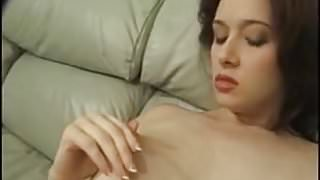 Busty amateur Kathryn playing her tits and masturbating her