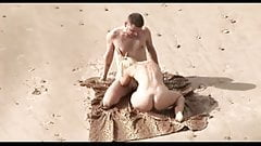 Voyeur on public beach. Hot young couple sex1