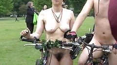 Naked cyclist