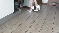 Sexy white Stiletto Shoes