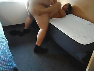 Old fat man fuck a young hooker