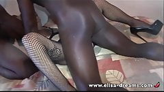 Sex Challenge - Cheating Wife Takes two BBC in her Ass