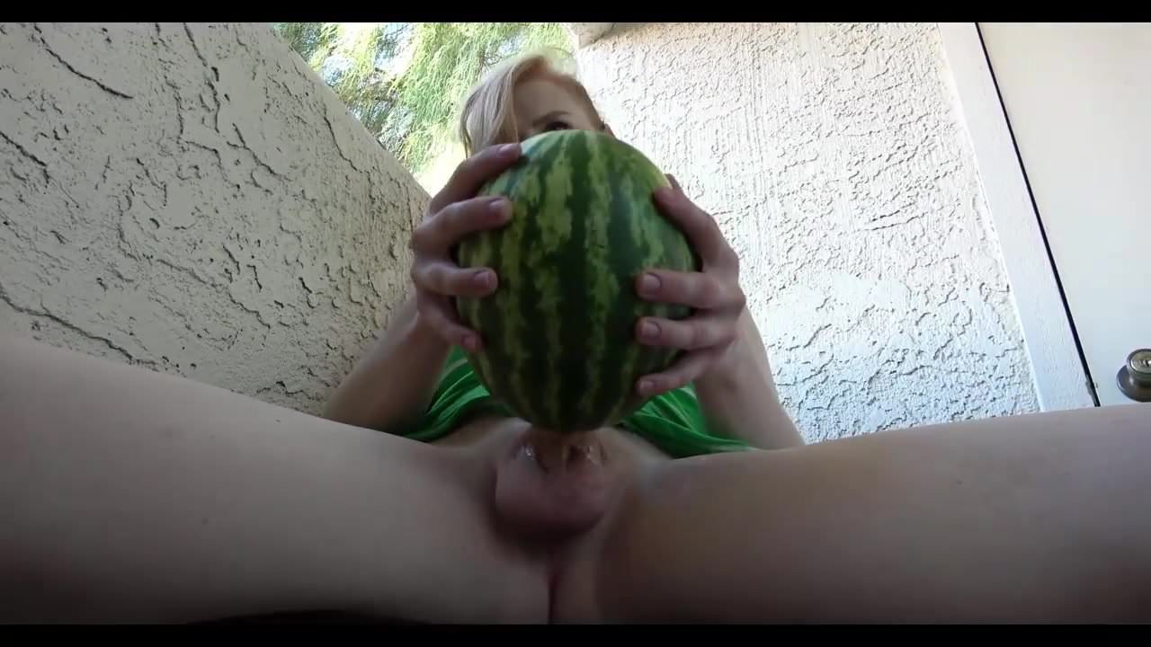 Shemale fucks melon