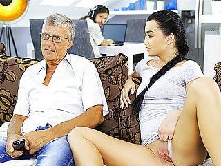 DADDY4K. Horny brunette unleashes all lust on boyfriend's...