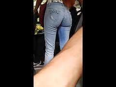Amazing redhead ass - Bus - Voyeur - Argentina - street