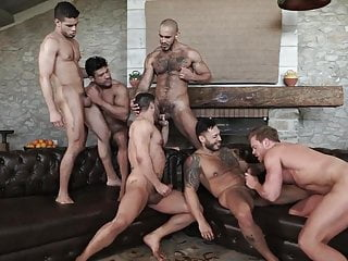 Sex-Party - Six men have fun
