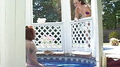 Teen Girls Licking Each Other Out By The Pool
