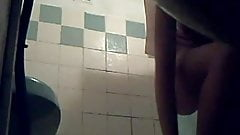 Hidden Cam Catches Her In The Shower p.2