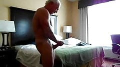 Str8 daddy stroke in his bedroom