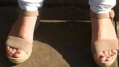 Fuesse meiner Frau nice feet spyshot of my wife