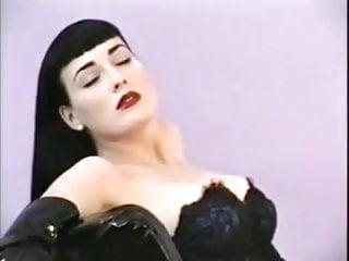 Dita Von Teese poses in corset