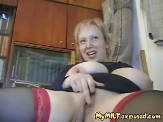 My MILF Exposed - thick MILF in stockinsg with shaved pussy