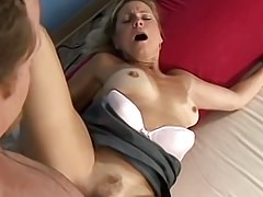 Blonde Housewife Katie Spreads For Dick
