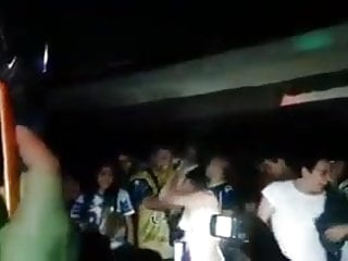 Girls stripping naked in nightclub