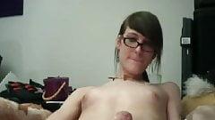 Sissy trap wanking on cam